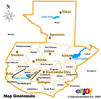 mapa de guatemala en blanco