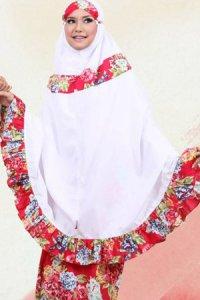 Mukena Dewasa Tatuis Tiara 062 - Merah (Toko Jilbab dan Busana Muslimah Terbaru)