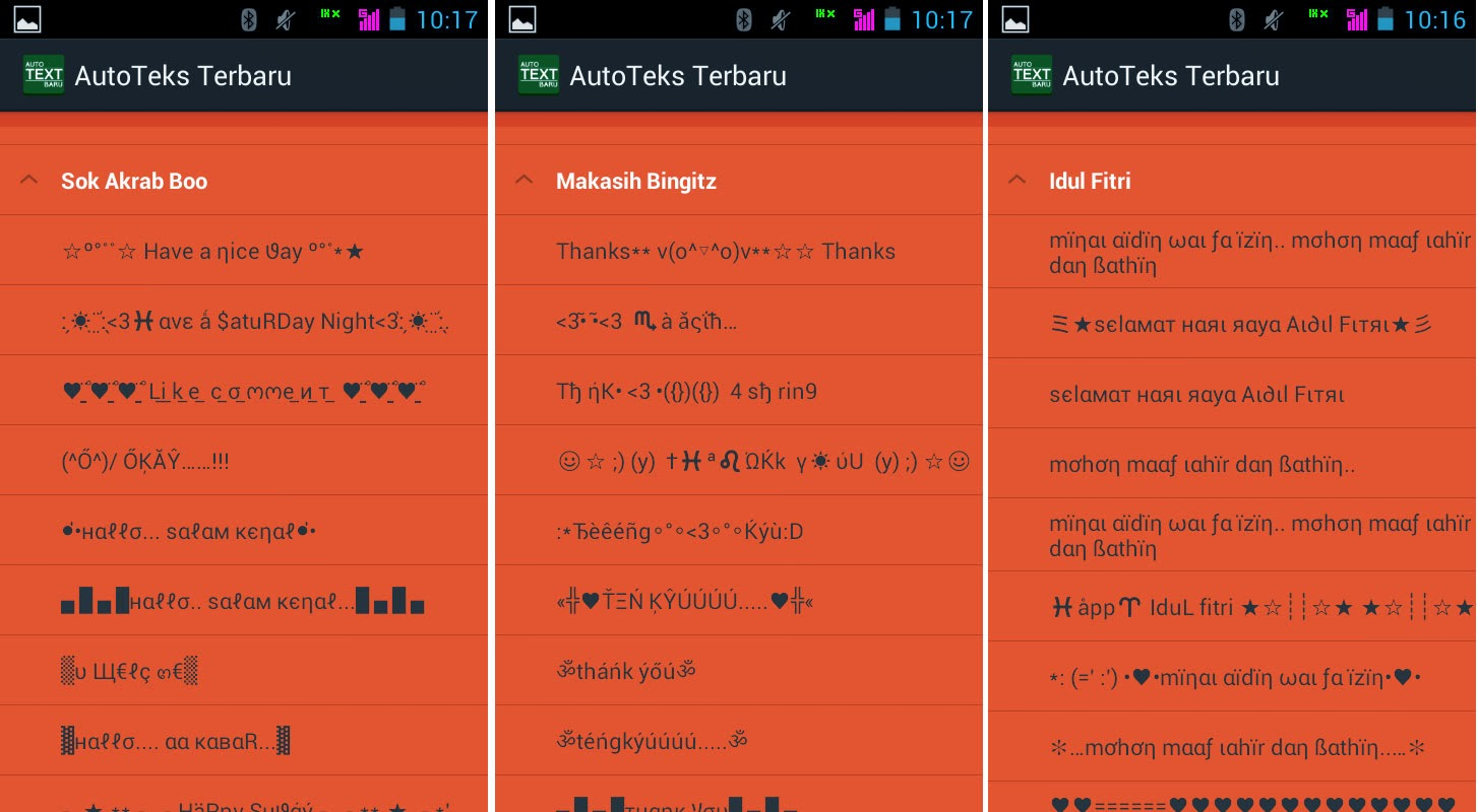 Auto Text Ucapan Lebaran Untuk Android