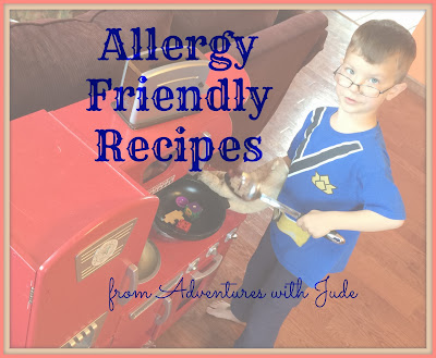 Index page of Allergy Friendly Recipes at Adventures with Jude
