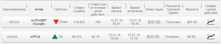 Отчет по бинарным опционам на долгосрочное инвестирование да 12.01.16