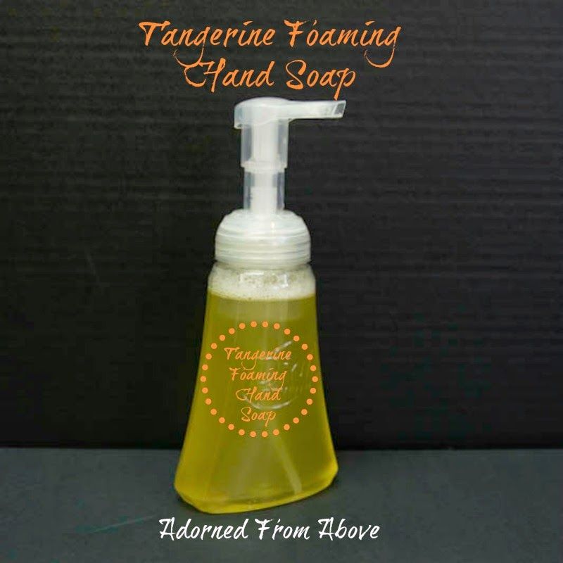 Adorned From Above How To Make Tangerine Foaming Hand Soap