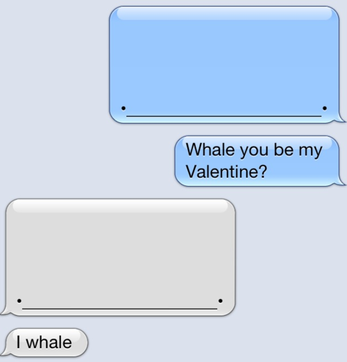 Whale You Be My Valentine - I Whale