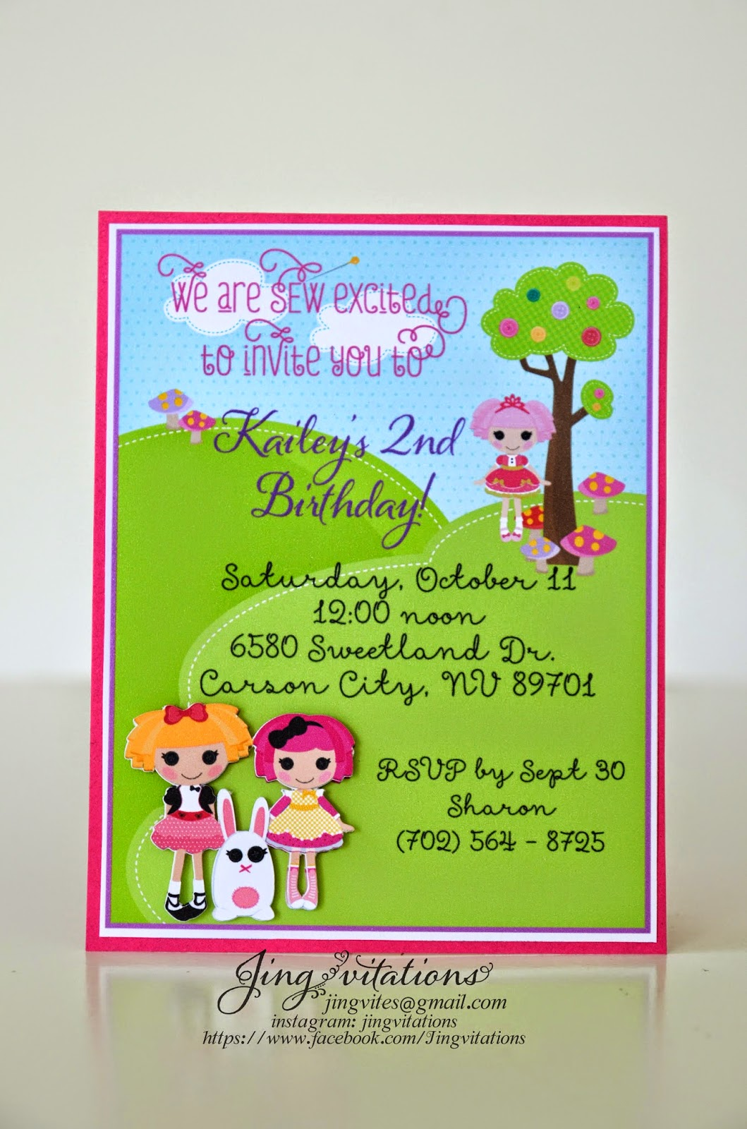 lalaloopsy handmade_invitations