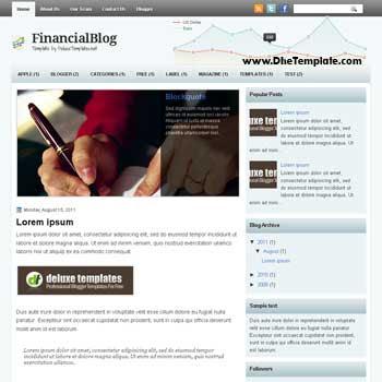 FinancialBlog blogger template. 2 column blogspot template. template blogspot magazine style