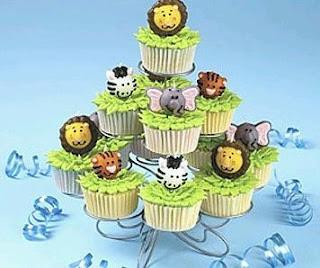 Cupcakes Animales de la Selva
