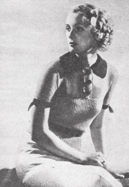 The Vintage Pattern Files Free 1930's Knitting Pattern - Here's Chic and Good Taste