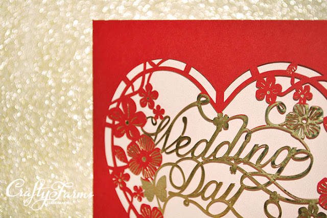 Oriental Red Laser Cut Wedding Invitation Card