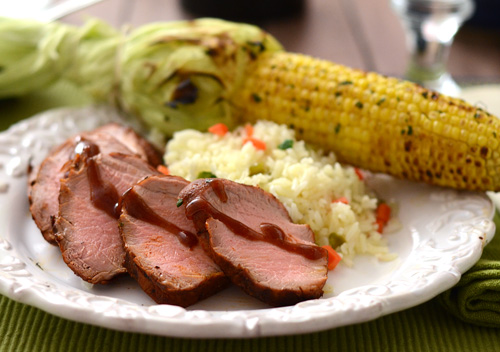 Nibble Me This: Cherry Chipotle Pork Tenderloin