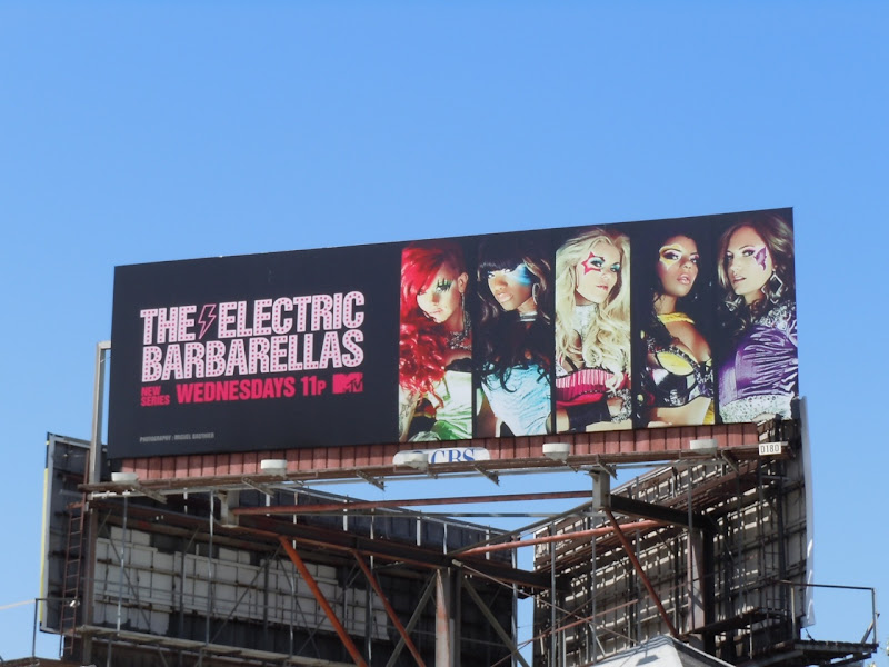 Electric Barbarellas MTV billboard