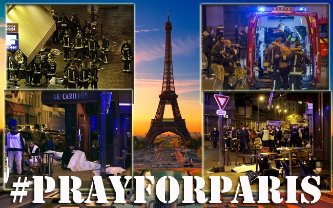 Dark days for the City of lights. Paris was attacked on Friday the 13th