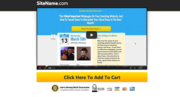 Getting Video Sales Page