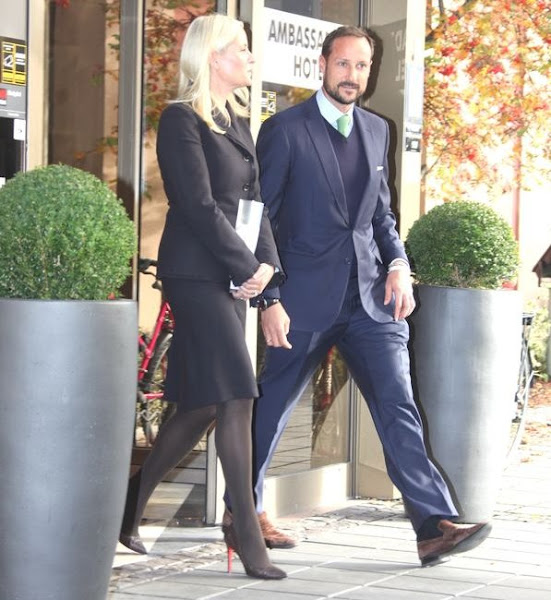 "Crown Prince Haakon of Norway and Crown Princess Mette-Marit of Norway attends the ENERGETICS conference on ""Multicultural Value Creation"" in Drammen"