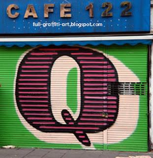 Graffiti Alphabet letter Q