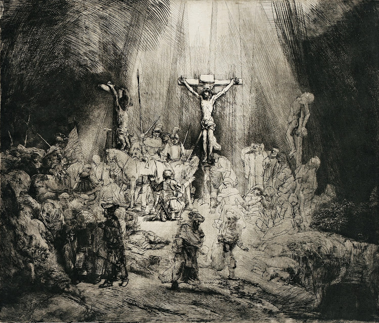Rembrandt - Christ Crucified Between the Two Thieves