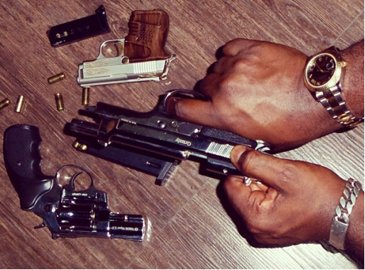 Lethal Pistols! Jude Okoye shows off his guns