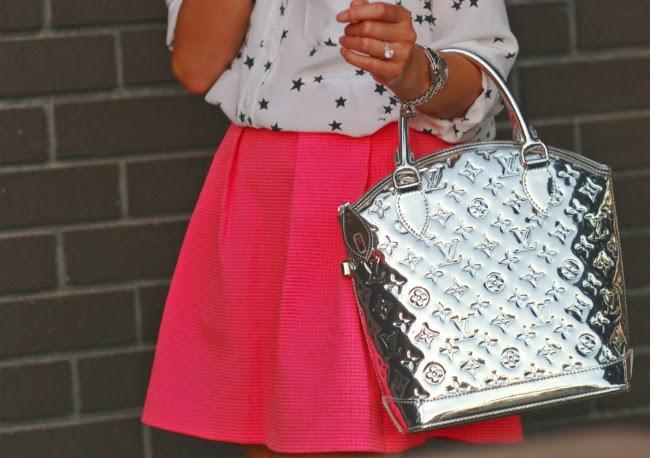 louis vuitton miroir bag lockit monogram silver accessory