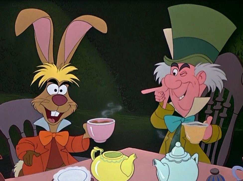 Mad Hatter and March Hare Alice in Wonderland 1951 animatedfilmreviews.blogspot.com