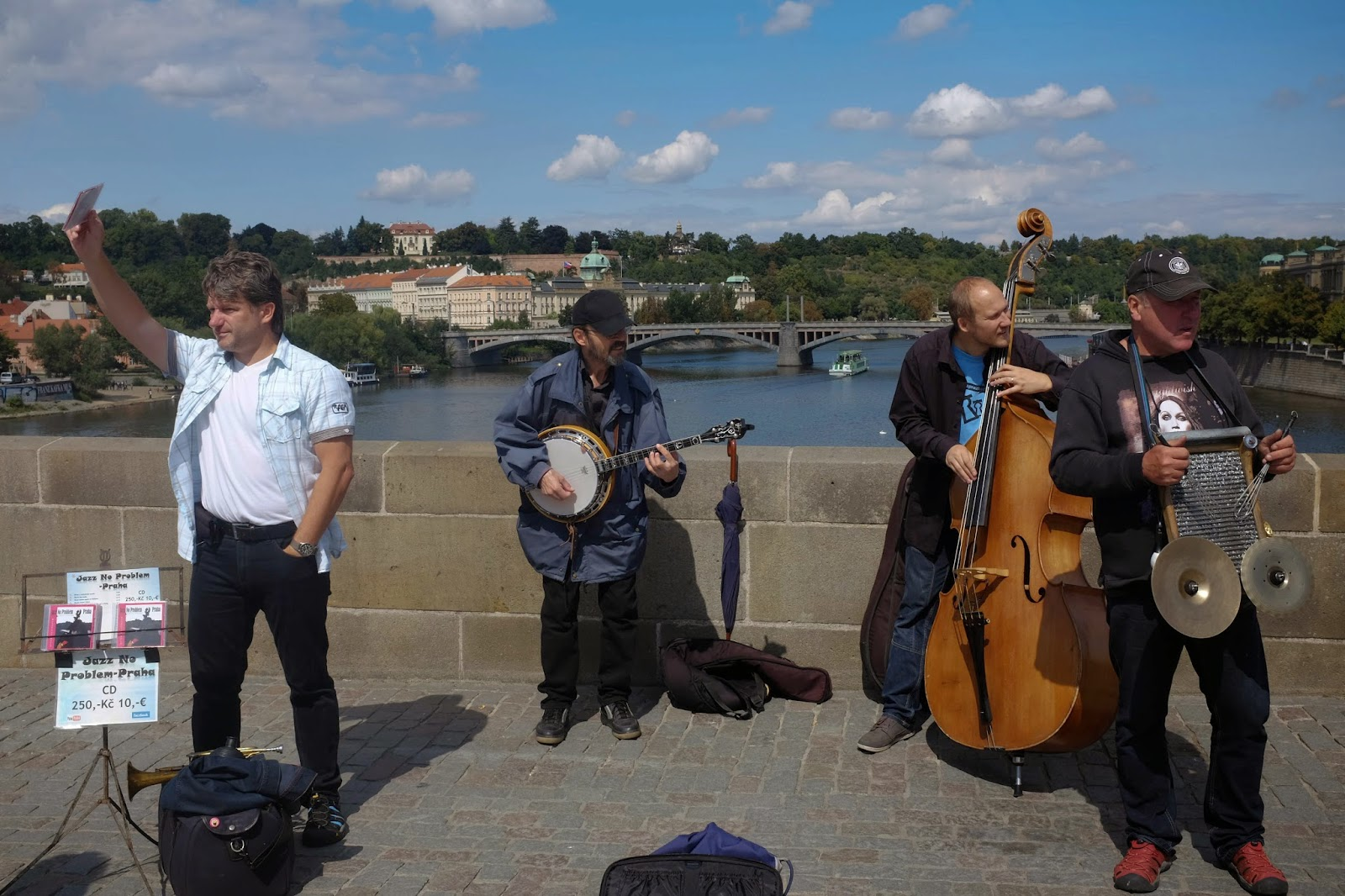 Charles Bridge Prague buskers