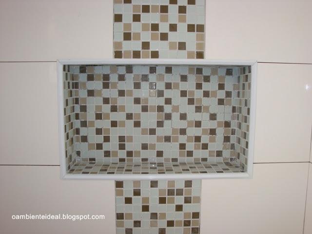 Coisas da Kátia Nichos no banheiro -> Acabamento Do Nicho Do Banheiro