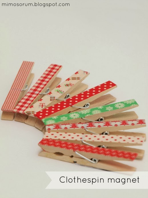 Pinzas imán con Washi tape. Mimosorum