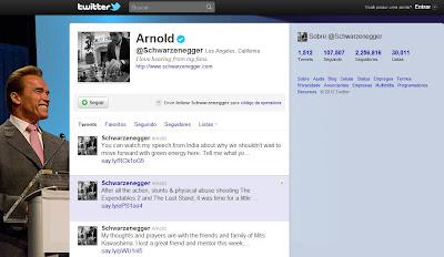 Twitter do Arnold Schwarzenegger
