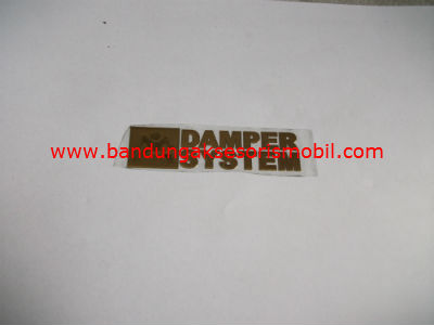 Emblem Alumunium Kecil Gold Dumper System