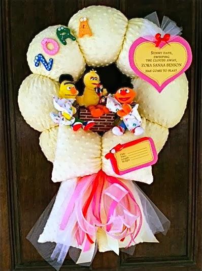 103. Sesame street baby wreath