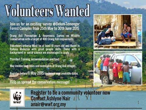 Volunteer WWF Malaysia