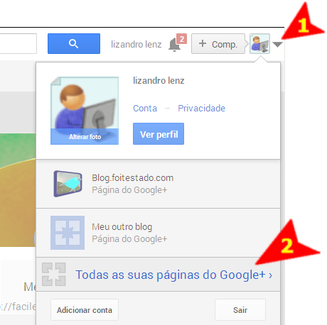 Passo a passo para ver como criar uma página no Plus Google + um