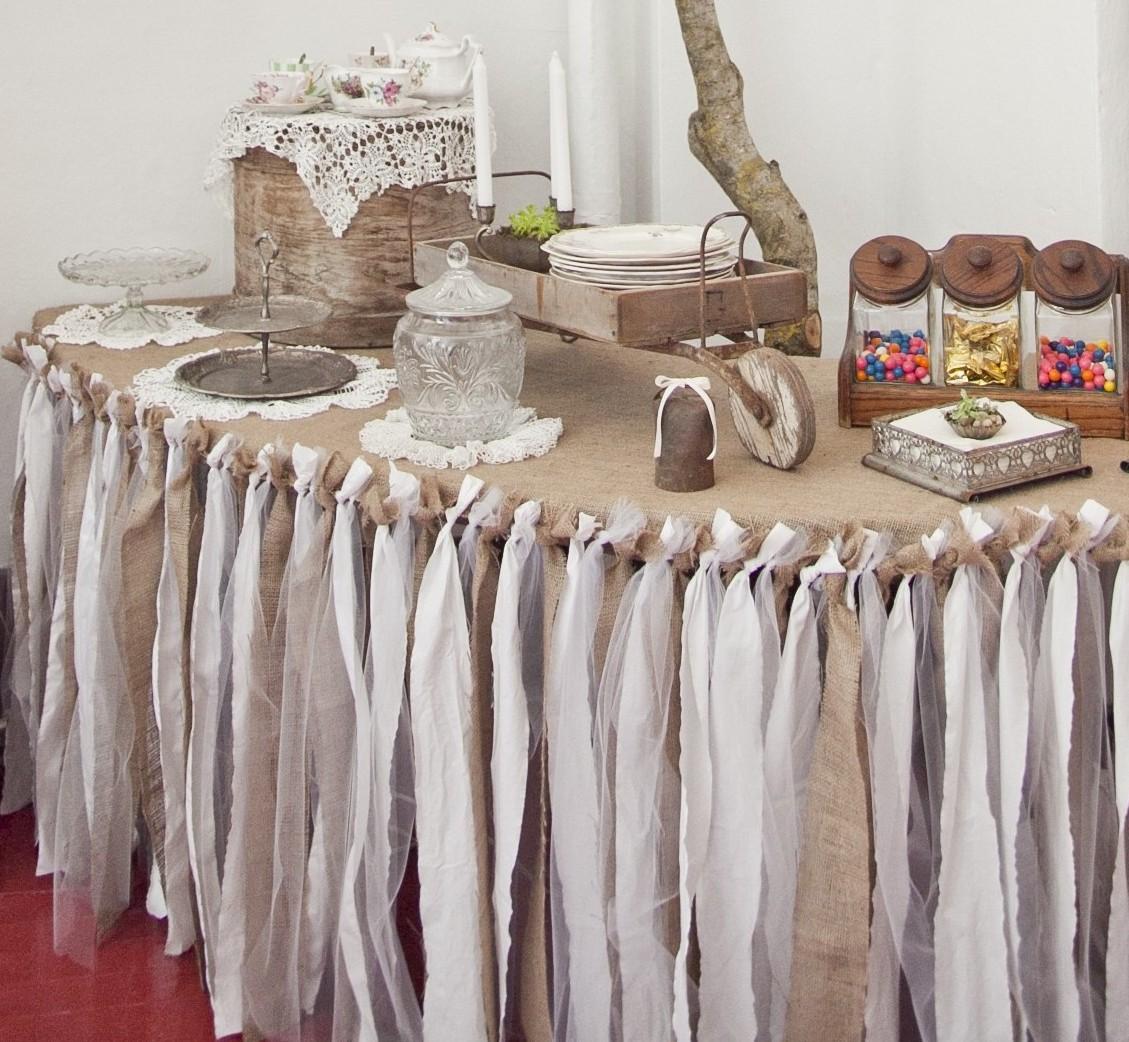 ArOka Ruffled Rags DIY Table Cloth