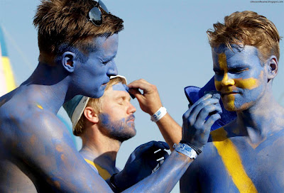 100% Swedish Fans Euro 2012 Sweden Hd Desktop Wallpaper