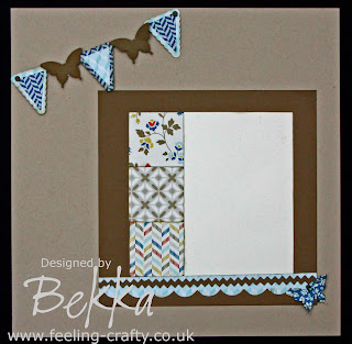 Gorgeous Scrapbook Page made by Bekka featuring the Comfort Cafe Papers from Stampin' Up!  She also sells Scrapbook Kits - check out www.feeling-crafty.co.uk
