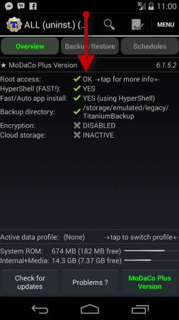 Root Access Titanium Backup Android