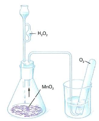 Obtencion de oxigeno por descomposicion catalica