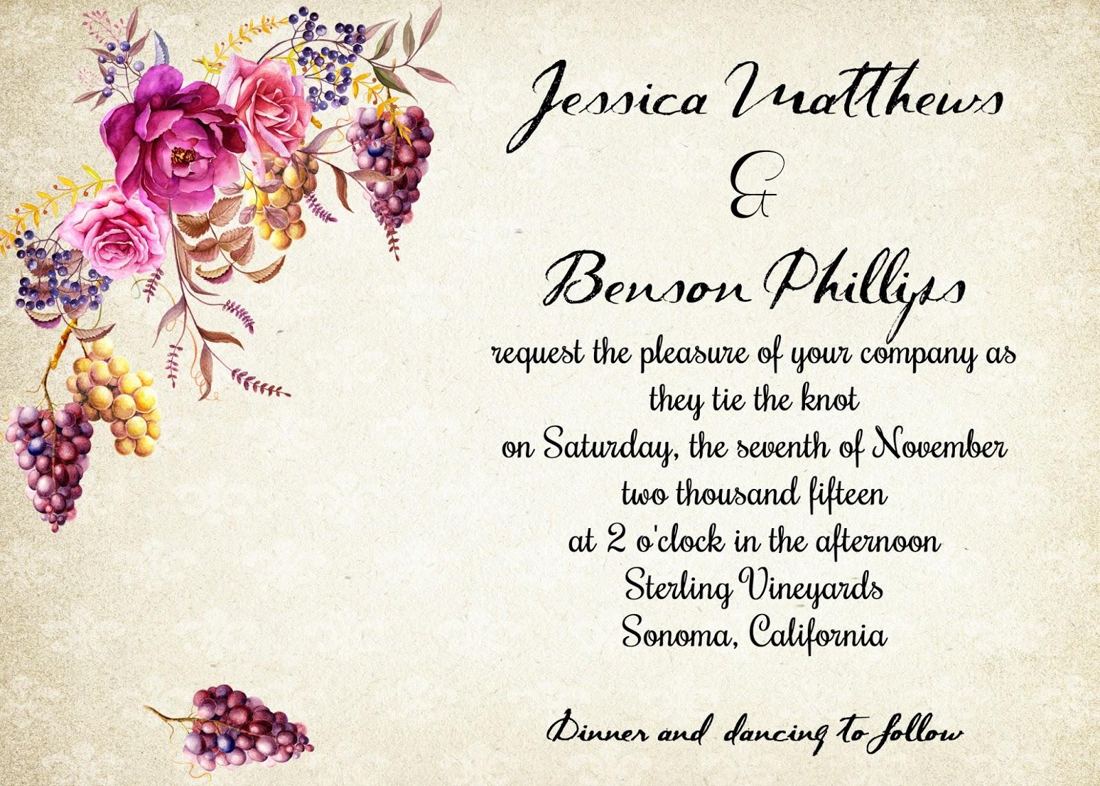 Sugar and Spice Invitations: Vineyard Weddings Ideas