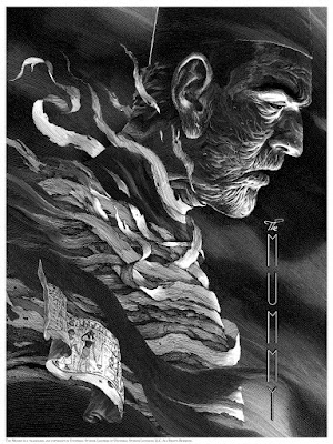 Universal Classic Monsters Screen Print Set by Nicolas Delort & Dark Hall Mansion - The Mummy