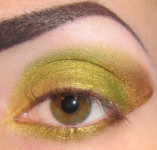 ... Bronze + Glitter Makeup look Picture tutorial with Morgana Cryptoria