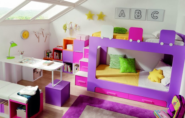 Dormitorios infantiles compartidos habitaciones for Cuartos para ninas literas