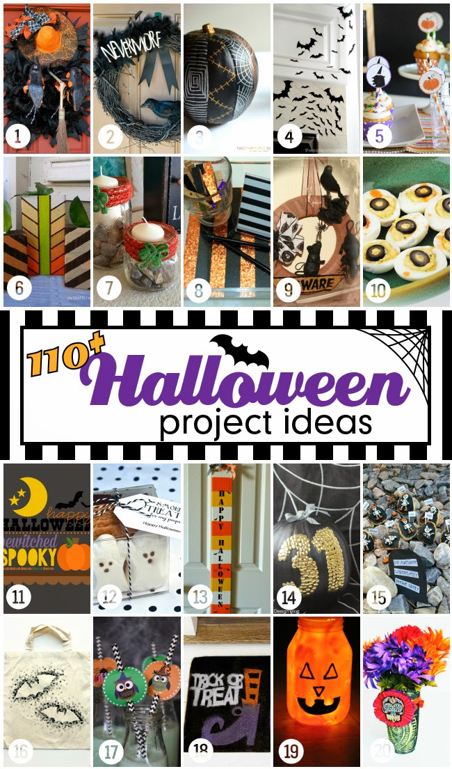 Halloween Bash Blog Hop Wednesday 20 Projects | www.blackandwhiteobsession.com
