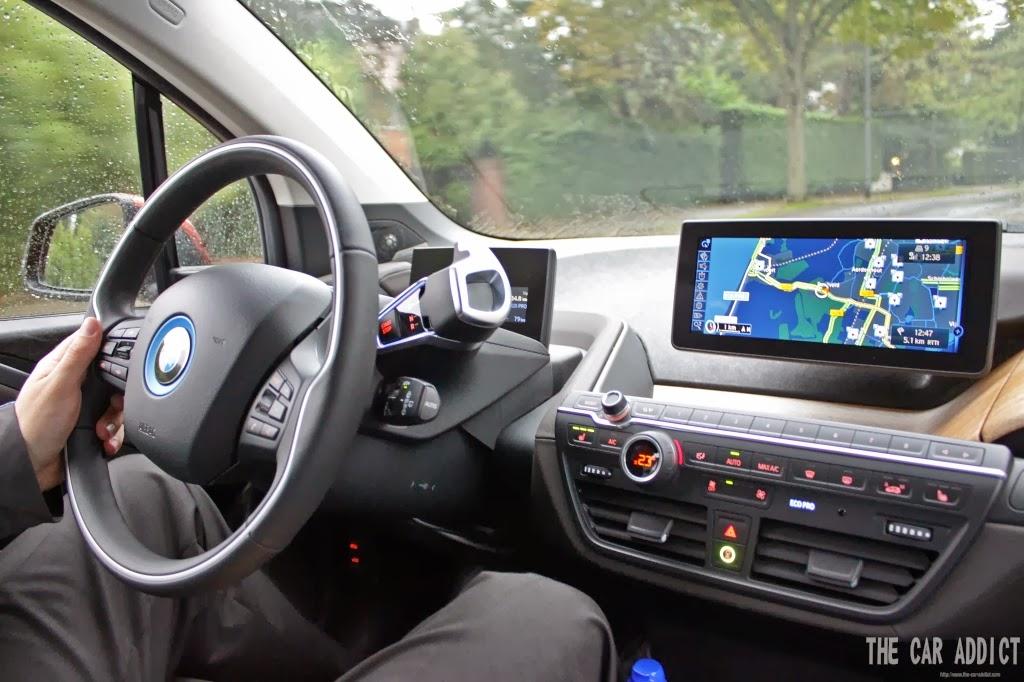 driving bmw i3 inside