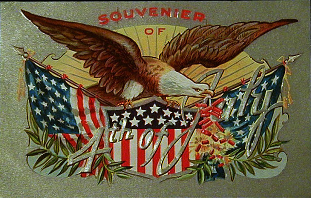 Antique Postcard, 4th of July