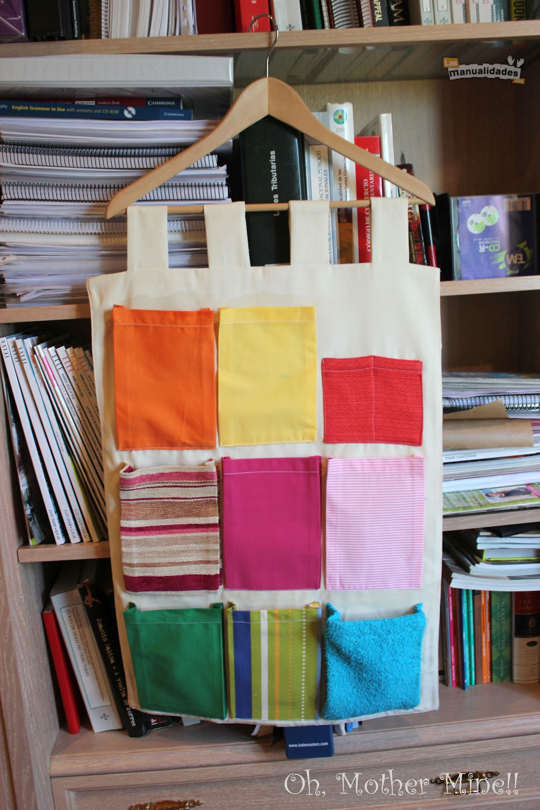 Organizador De Baño Bebe:de costura Tutorial Tapiz organizador portátil con bolsillos, para
