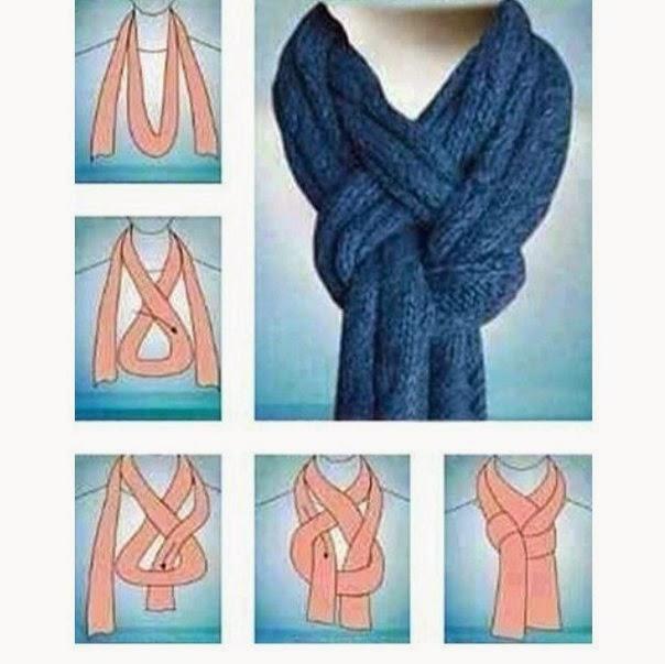 Как красиво завязать вязанный шарф