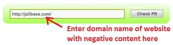 how to check the pagerank of your negative reputation website