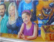 Laney on the Mural
