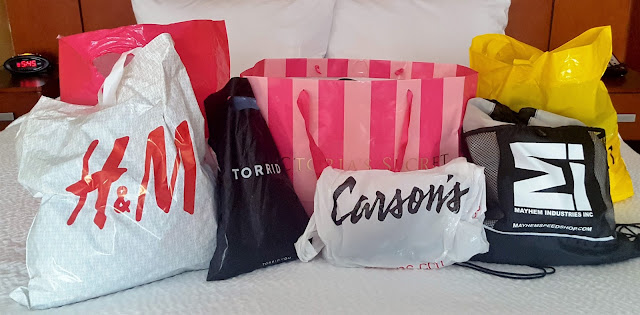 Different stores from my shopping trip