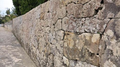 Stone wall Nakamura House Okinawa