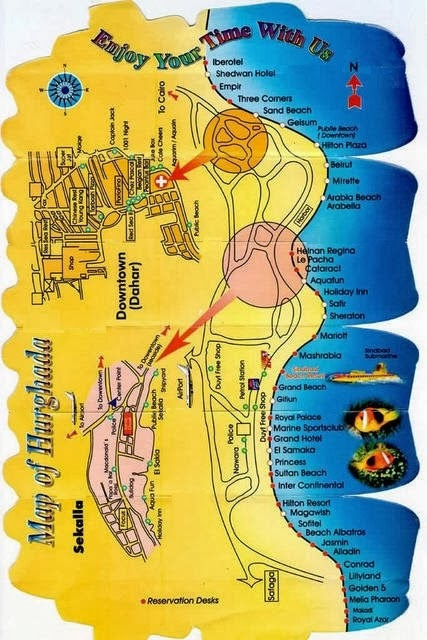 Hurghada map Egypt