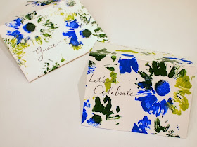 printing with flowers and turning it into stationary